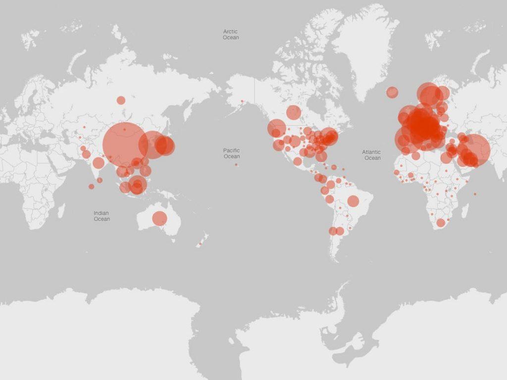 Microsoft Launched Coronavirus Tracking website
